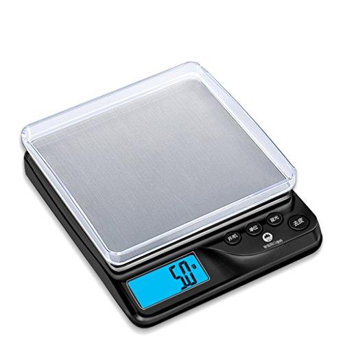 HUIJU Digitale Küchenwaage Schmuck Waagen Skala Haushaltswaagen 0.1G Balance Backen Lebensmittel Skala,Black