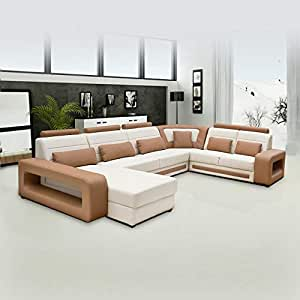 Bharat Furniture U Shape Eight Seater Sofa LHS Aligment Solid Sal Wood Sofa, Multi Colour