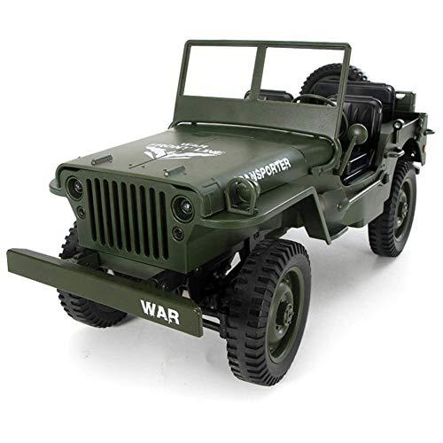 Fernbedienung Auto Kleinkind, 4wd rc Cars Spielzeug 2,4g Fernbedienung licht Jeep allradantrieb Offroad militär Klettern Auto Toys Kinder Kind Geschenk@Grün -