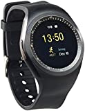 simvalley Mobile Handyuhren: 2in1-Uhren-Handy & Smartwatch für Android, rundes Display, Bluetooth (Smartwatch SIM Android)