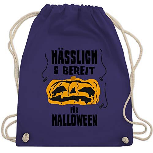 Halloween - Hässlich und bereit für Halloween - Unisize - Lila - WM110 - Turnbeutel & Gym Bag