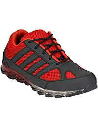 Wave Walk Red Synthetic Men's Safety Shoes