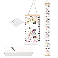 Bingolar Baby Growth Chart,Kids Children Height Chart Canvas Wall Hanging Measuring Rulers for Kids Boys Girls Room Decoration Nursery Removable Nursery Room Decoration 7.9 x 79 inch