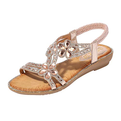 Bling Flowers Rhinestone Flat Sandal,PAOLIAN Women for sale  Delivered anywhere in UK