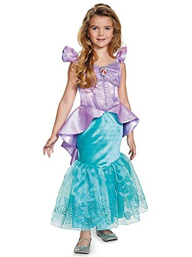 Disguise Ariel Prestige Disney Princess The Little Mermaid Costume, Medium/7-8