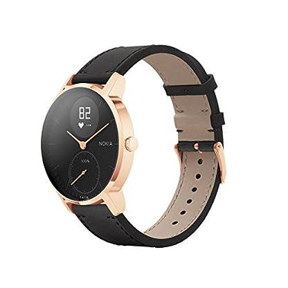 Withings-Nokia-Steel-HR-Rose-Gold-Hybrid-Smartwatch-Armbanduhr-mit-Aktivitts-Herzfrequenzfunktion