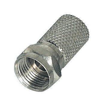 Sat Aufdrehstecker STECKER  7mm  mit  O-RING Dichtungsring 25  x  F