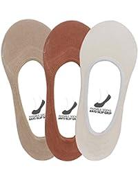 Supersox Women's Anti Slip No Show Socks/Loafer Socks Pack of 3