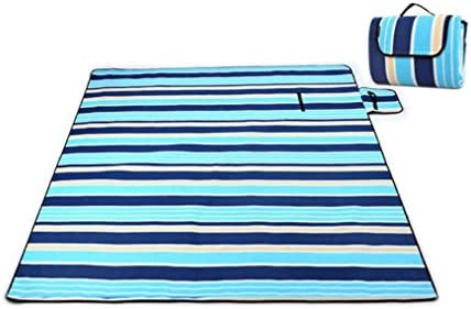 NINI Coperta In Velluto Di Di Di Alluminio Portatile A Prova Di Umidità Coperta Da Spiaggia, Spiaggia, Giardino, Campeggio, Turismo 2Mx2m (Strisce Blu, Reticoli),blustripes | Prezzo Pazzesco  | attività di esportazione in linea  14a5ec