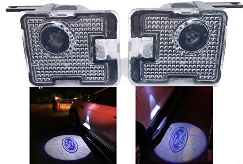 Sunshine Fly 2 stücke LED Seite Unter Spiegel Projektor Licht Geist Logo Willkommen Licht Auto Ersatz Rücklicht Zubehör Weiße (for kuga) (Cooles Auto-spiegel-zubehör)