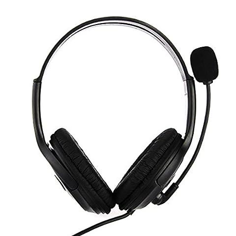 PC Gamer Over Ear Spiel Spiel Kopfhörer Kopfhörer USB Dual Kopfhörer Stirnband mit Mic Stereo Bass für PS3 PC