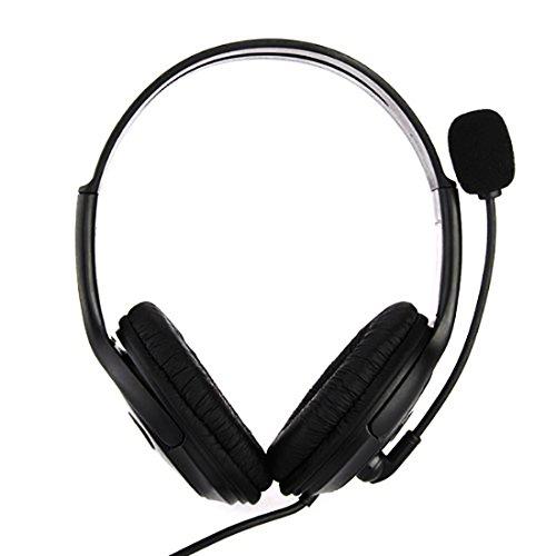 NoyoKere PC Gamer Over Ear Spiel Spiel Kopfhörer Kopfhörer USB Dual Kopfhörer Stirnband mit Mic Stereo Bass für PS3 PC