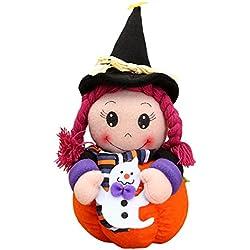 Decoración para Halloween, muñeca de bruja.