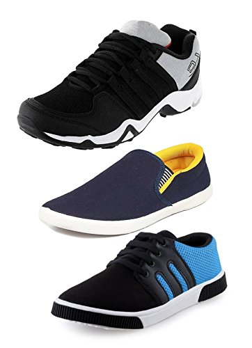 Tempo-Mens-Combo-Pack-of-3ShoesDANGALSLV-YLWBR1-Blue