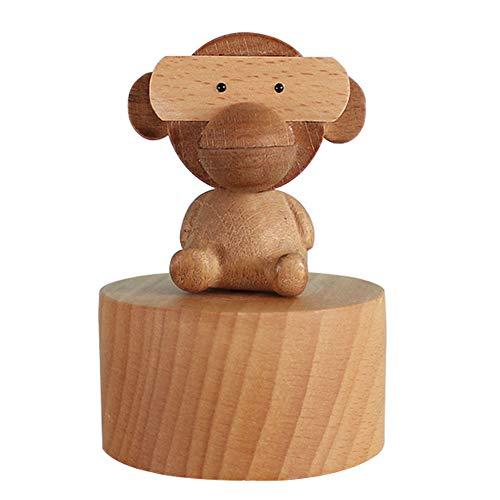 Spieluhr, Holz Spieluhr Tier niedlich Affe Neuheit Weihnachtsschmuck Kinder Spielzeug Spaß Geburtstagsgeschenk