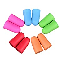7thLake 5PCS 5 Colors Anti-noise Soft Ear Plugs Individually Wrapped Sound Insulation Ear Protection Earplugs For Travel Noise Reduction With Plastic Case for Sleeping, Snoring, Hearing Protection