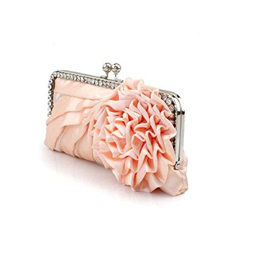 Moda Fiore Di Seta Mobile Donne Phone Sera Borsa Pink