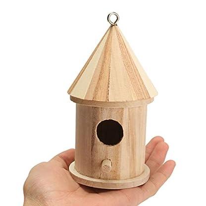 Dreammy New Wooden Bird House Birdhouse Hanging Nesting Box Hook Home Garden Decor 4