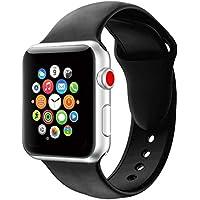 YOUKESI Apple Watch Armband 38mm/42mm, Soft Silikon Ersatz Uhrenarmbänder für iWatch Serie 3 Serie 2 Serie 1 Sport, Verschiedene Farben Erhältlich