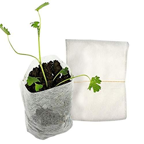 Fantasyworld 100 pcs/Pack Protection de l'environnement Nursery Pots Raising Sacs de Rangement Seedling Sacs Nursery Non-tissés Fournitures pour Le Jardinage