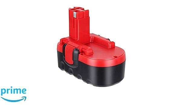 LYPULIGHT 18V 3000mAh Ni-MH Batterie de Remplacement pour Bosch 2607335277 2607335278 2607335536 2607335695 BAT025 BAT160 BAT180 13618 1644K 3860CK 52318 PSB 18 VE-2 GSB 18 VE-2 GSR 18 VE-2 18V