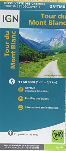 Tour du Mont Blanc 1:50 000 -