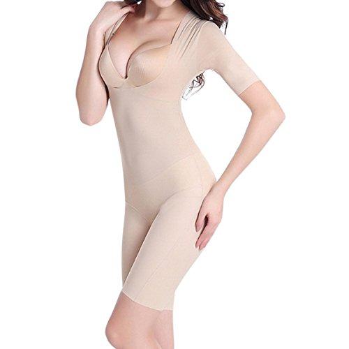 Shymay Damen Formender Body, Einfarbig Nude