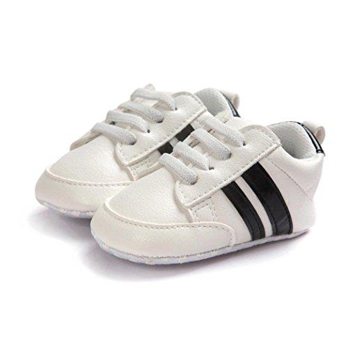 Jamicy Baby Schuhe Soft Bottom Anti-Rutsch Leder Sport Schuh für Kleinkind Kleinkind Jungen (12-18 Monat, Schwarz)
