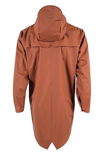 RAINS Herren Regenmantel Long Jacket Red (Rust)