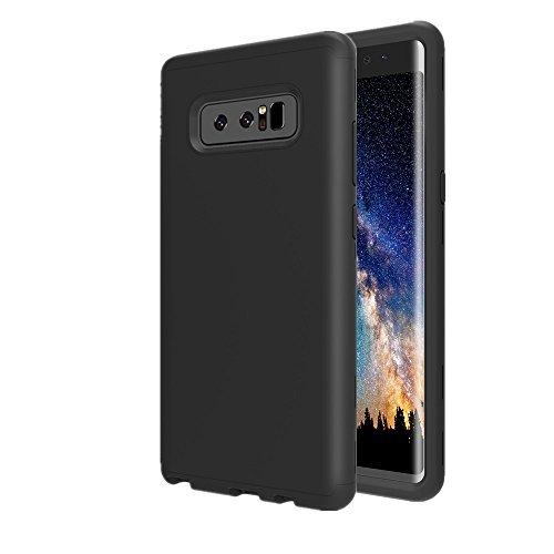 Galaxy Note 8Case, aoker Drei Schicht Heavy Duty High Impact Resistant Hybrid Hartschale Schutzhülle und Weichem Silikon Slim Fit Best Defender Schutzhülle für Samsung Galaxy Note 8(2017), Schwarz
