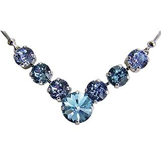 Mira Costume Country Necklace with Swarovski Rhinestones For Beautiful Jewellery Dirndl & Lederhosen Dresses one size Aquamarine