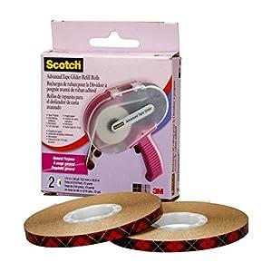 3M Scotch Kleberoller mit Klebeband, Verschiedene Materialien, Rosa