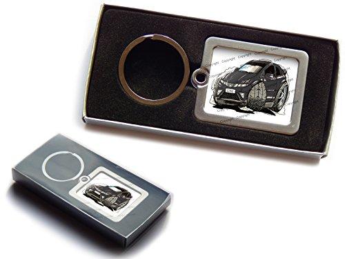 honda-civic-koolart-porte-cles-en-metal-de-qualite-superieure-avec-boite-cadeau-choisir-une-couleur-