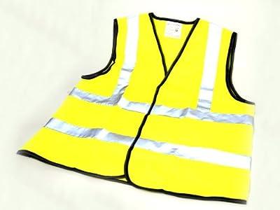 Kinder Signalweste Sicherheits-Warnweste Fahrradweste Fahrrad-Reflektor-Weste - auch für Sport und Freizeit - in Signal-Neon-Gelb