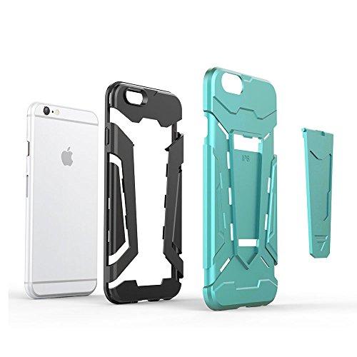 Cover iPhone 6s Custodia iPhone 6 Hard Anfire Belt Clip Holster Kickstand Case Cover per iPhone 6 / 6s (4.7 Pollici) Ultra Sottile Liscio Opaco Antiurto Protettivo Bumper Paraurti Rugged Adatta Shell  Verde
