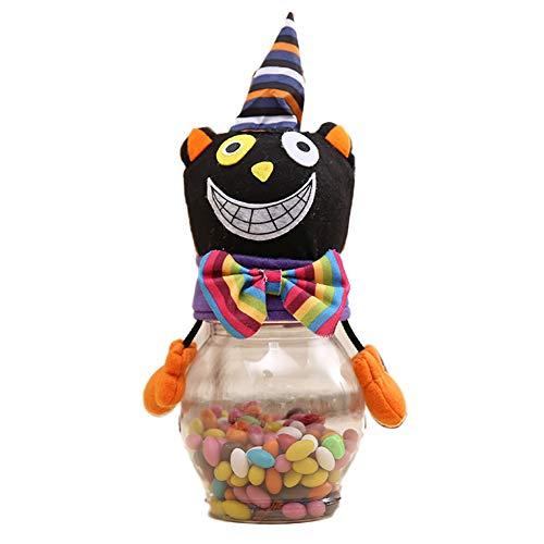 NaiseCore Halloween Keksdose Transparent Zuckerflasche Kunststoff-Plätzchen-Aufbewahrungsbehälter Jar Kinder -