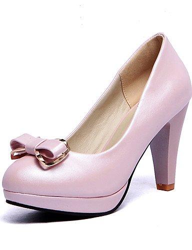 WSS 2016 Chaussures Femme-Extérieure / Décontracté-Noir / Bleu / Rose / Blanc-Talon Cône-Talons / A Plateau / Confort / Bout Arrondi-Talons-Cuir blue-us9 / eu40 / uk7 / cn41