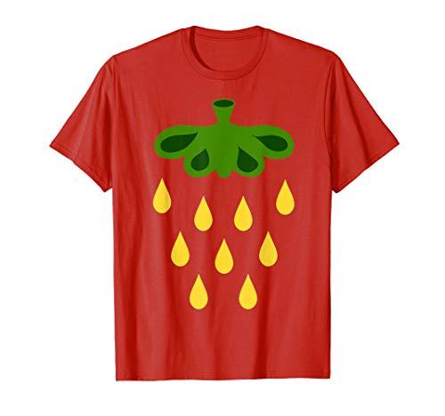 Last Kostüm Minute Herren - Erdbeer Kostüm Shirt Frucht Erdbeeren Karneval Last Minute  T-Shirt