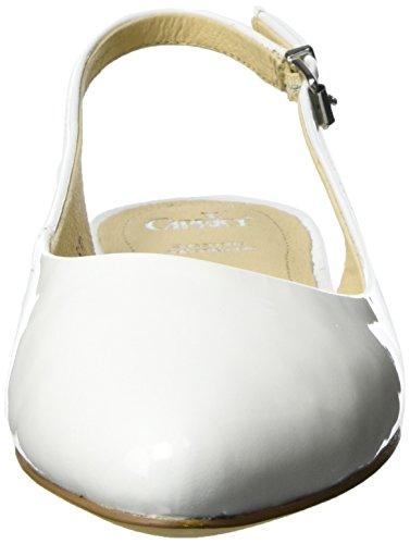 Caprice Damen 29402 Slingback Weiß (WHITE PATENT)