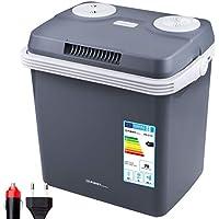TZS First Austria - 32 Liter Kühlbox, zum warmhalten oder kühlen, thermo-Elektrische Kühlbox 12 Volt und 230 Volt, Mini-Kühlschrank   für Auto und Camping   EEK A++