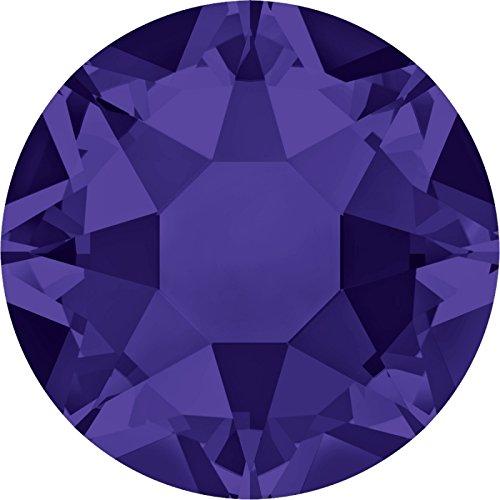 100 Stück SWAROVSKI 2078 XIRIUS Rose Hotfix, Purple Velvet SS16 (Ø ca. 4 mm), Strasssteine zum Aufbügeln