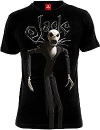 T-shirt L'Etrange Noël de Monsieur Jack motif Jack coton noir