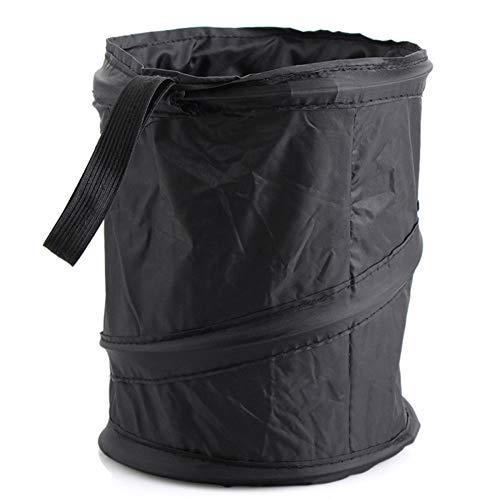 L.tsn Auto-müll Bin Mülleimer Tragetasche Saugnapf Müll Can Rack Hanger Veranstalter Wasserdicht Travel, Black