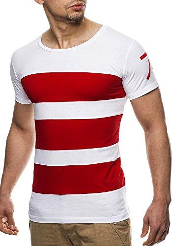 LEIF NELSON Herren T-Shirt Long Sweat Sweatpullover zipped; Grš§e XL, Weiss | 04250863639831