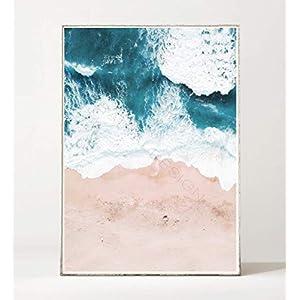 DIN A4 Kunstdruck Poster WAVES 03 -ungerahmt- Meer, Ozean, Strand, Wellen, Brandung, Küste, Landschaft, Luftaufnahme