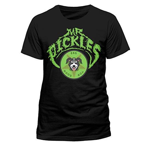 CID Herren T-Shirt Mr Pickles-Logo Schwarz