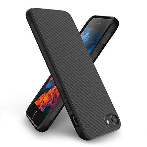 Syncwire Hülle kompatibel mit iPhone 8 iPhone 7, S-Matrix Serie Handyhülle [Geometrisches Kohlefaser-Design] Silikonhülle, Stoßfest Schutzhülle für Apple iPhone 7/8 -