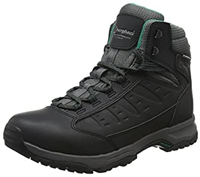 Berghaus Women's's Explorer Active M Gore-Tex Walking Boots High Rise Hiking (Black/Dark Grey Bk2), 4 UK 37 EU