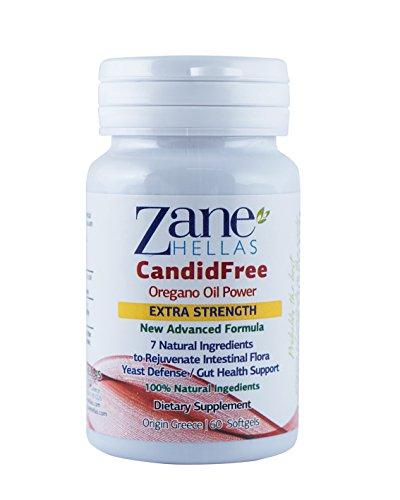 CANDIDA Stop by Zane Hellas–Lösung Extra-Candida–60Softgels–Öle, natürlichen Kräutern 100% natürlichen mit Präbiotika und probiotischen natürlichen