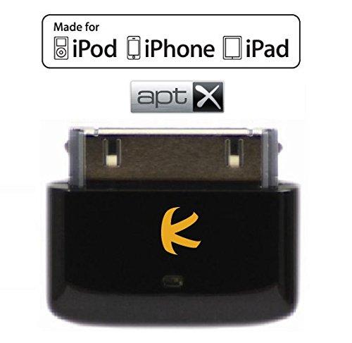 KOKKIA i10s + aptX (Schwarz) Winzig Kleiner Bluetooth-Transmitter für iPod/iPhone/iPad; sorgt für einen saubereren Klang mit reduzierter Latenz für apt-X-Bluetooth-Kopfhörer/-Receiver/-Lautsprecher.